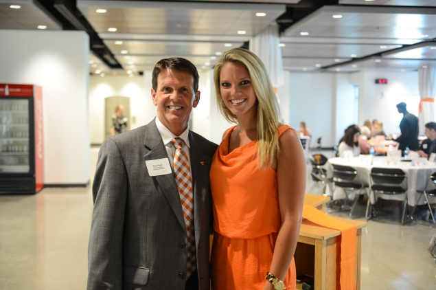 Tennessee Athletic Director Dave Hart and Sara Mitchell