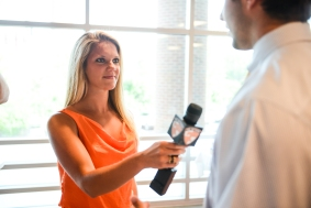 Interviews at Spring Graduation