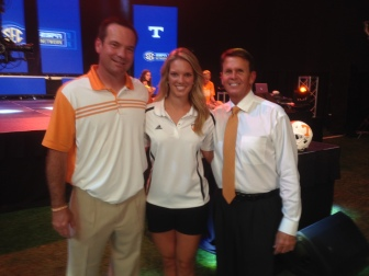 Director of Player Personnel Bob Welton, Vol Reporter Sara Mitchell, and Athletic Director Dave Hart