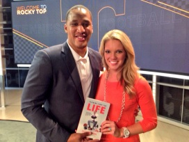 """Author and former NFL athlete, Steve Sanders visited the University of Tennessee to talk about his book """"Training Camp for Life."""""""