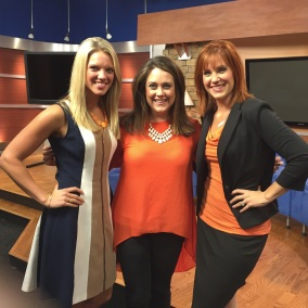 Sara Mitchell, Casey Wheeless, Heather Haley on game day Saturday