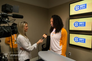 Lady Vol Basharra Graves SEC Basketball Media Days Charlotte, NC