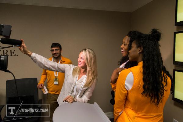 Lady Vols Bashaara Graves and Jordan Reynolds SEC Basketball Media Days Charlotte, NC