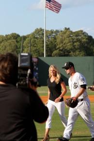 Jackson Generals baseball First Pitch