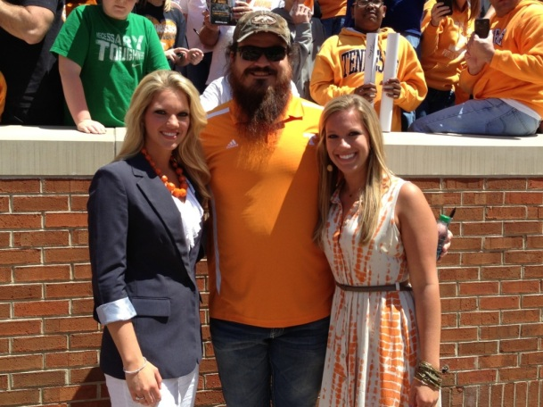 Tennessee Spring Football Game 2013 with Duck Dynasty's Justin Martin.