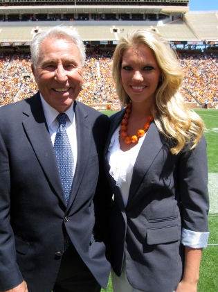 Tennessee Spring Football Game 2013. Lee Corso, Lindsey Nelson Broadcasting Award winner