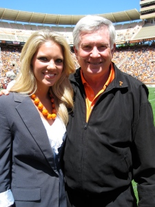 Tennessee Spring Football Game 2013.  Mack Brown, Neyland Award recipient.