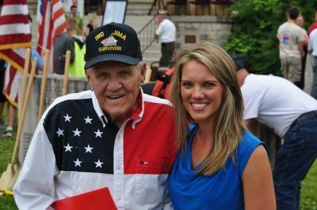 92-year-old Clayton Narveson, WWII Marine veteran