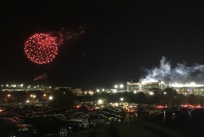 Post-game fireworks over BMS