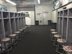 Virginia Tech locker room
