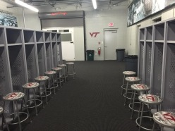 Virginia Tech locker room
