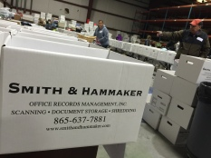 Boxes donated by Smith & Hammaker Inc.