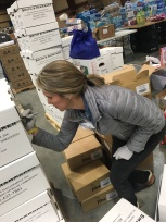 Packing boxes to aid East TN fire victims