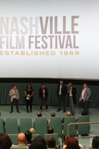 Producers and director speaking after the TN premier of Dog Years