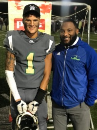 SH Data Centers MVP DaShon Bussell; 194 yards, 3 TD for Catholic HS in round 2 of the playoffs. ‬