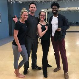 Dance Tonight pros Kris Hazard and Stephanie Braeuner with celebrity Tyrone